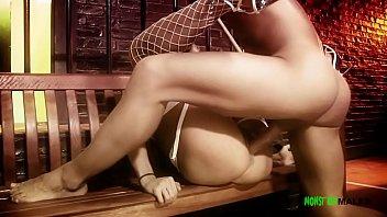 Девушка облизывает фаллос в общественном туалете
